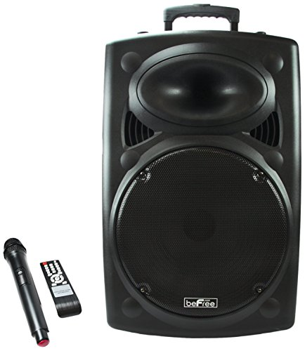 beFree Sound 15 Inch Bluetooth Powered P BFS-6550 Portable P