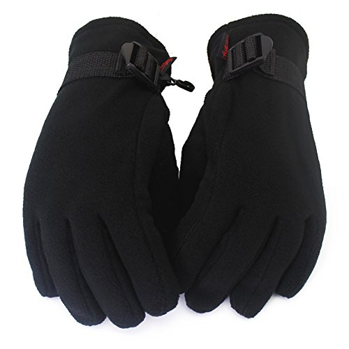 Men Women Touch Gloves Winter Thick Warm Lined Smart Texting Gloves, Keep Warm Gloves Black