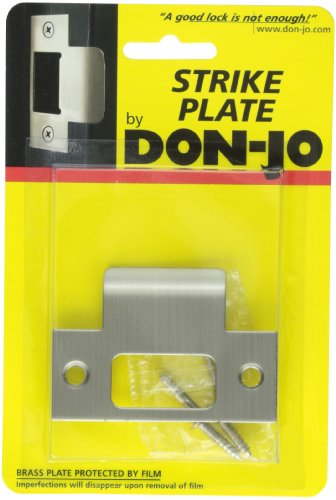 Don-Jo TS-234 18 Gauge Stainless Steel Replacement T-Strike, Satin Stainless Steel Finish, 1-1/8'' Width x 2-3/4'' Height (Pack of 10) by Don-Jo