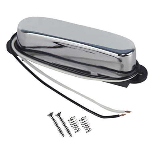 Ceramic Pickup - FLEOR Single Coil Pickups Ceramic Tele Neck Pickup Chrome Fit Fender Telecaster Neck Pickup Part
