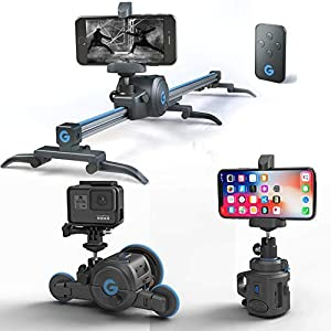 Flashandfocus.com 412YWuO-FpL._SS300_ Grip Gear The Directors Set. Pocket Sized Camera Motion Control kit , Electronic Camera Slider + Micro Camera Dolly…
