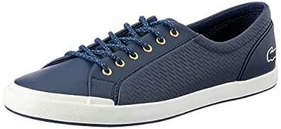 Lacoste Women's Lancelle Sneaker 119 1 Women's Fashion Shoes, NVY/Off WHT, 5 US