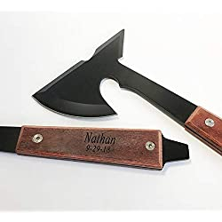 Set of 6 Personalized Hatchet Axes Groomsman, Groomsmen Gifts-Personalized Engraved Custom Axes for Men, for him With Rosewood Handle