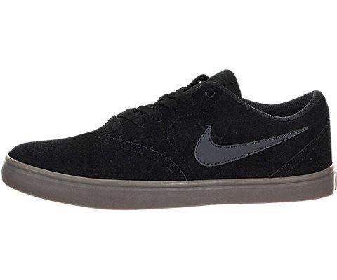 Nike Men's SB Check Solarsoft Skate Shoe (Black/Anthracite-Gum Dark Brown, 10.5 M US) by Nike