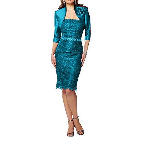 Abendkleider Traube Spitze Festlichkleider Kurz La Etuikleider Tuerkis Glamour Marie Knielang Brautmutterkleider Braut qSZng7w0