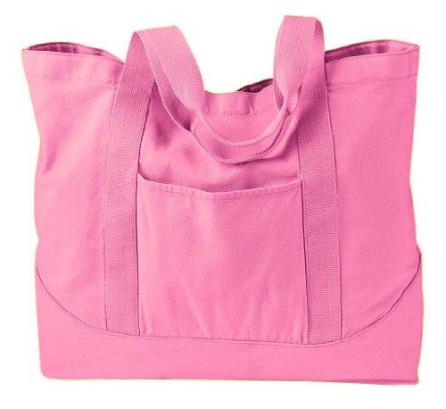 Auténtico pigmento 14oz pigment-dyed lienzo grande Tote Bag rosa claro