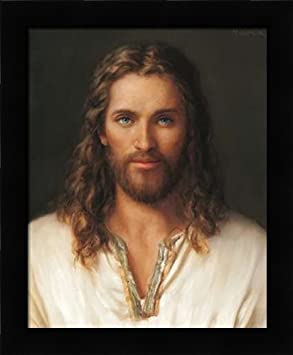 Jesus of Nazareth – Framed Art Print – 16×20 Fine Art Print by Missman, Mark in Studio Black Picture Frame – Inspirational Religion