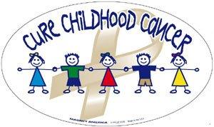 Cure Childhood Cancer Awareness Oval Magnet ()