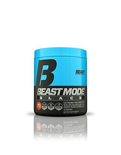Beast Sports Nutrition Mode Black 30 Serve Pre-Workout Supplement, Punch, 8.15 Ounce