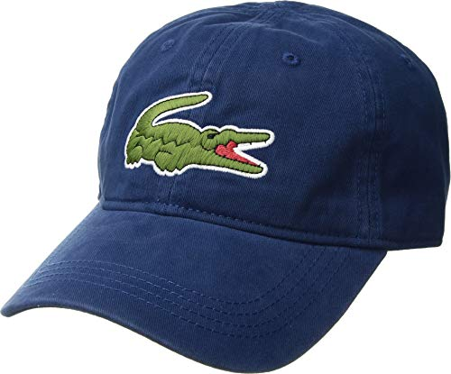 Lacoste Men's Big Croc Gabardine Cap, Inkwell, One Size from Lacoste