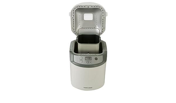 Black & Decker BK1015W Blanco - Panificadora (Blanco, 614 g, Masa, Pan francés, Pan de trigo, Tocar, 330 mm, 381 mm): Amazon.es: Hogar