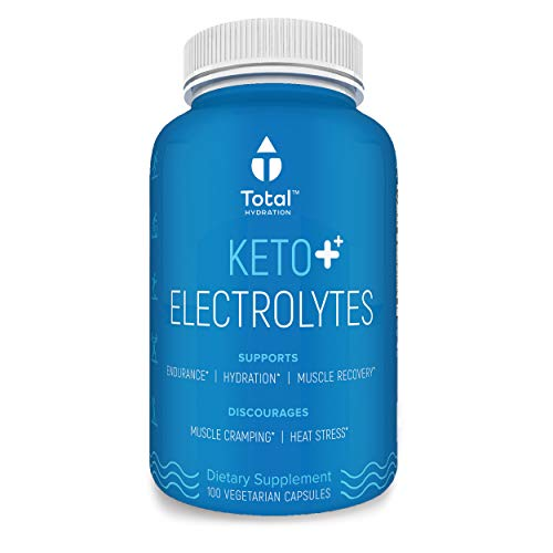 Plant Based Keto Electrolyte Supplement - Keto Balance Supplement | Keto Flu Symptom Relief & Rapid Rehydration W/Sodium, Magnesium & Zinc | for Exercise & Cramp Relief - 100 Vegan Tablets