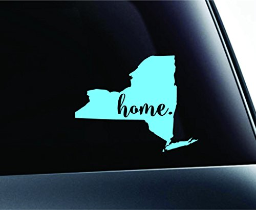 #3 Home New York State Albany Symbol Sticker Decal Car Truck Window Computer Laptop (Mint)