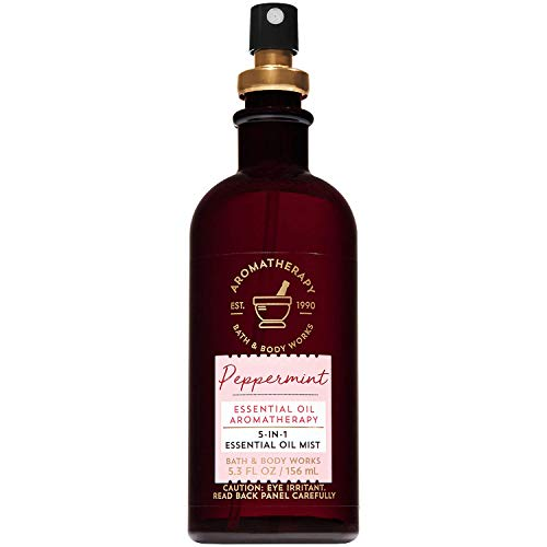 (Bath and Body Works Aromatherapy Peppermint 5-in-1 Essential Oil Mist (Alcohol-Free) 5.3 Fluid Ounce)