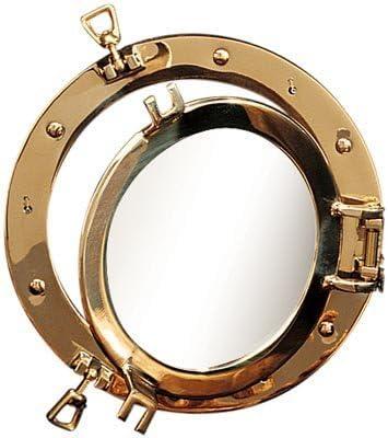 HS 21 Polished Brass Nautical Porthole Window