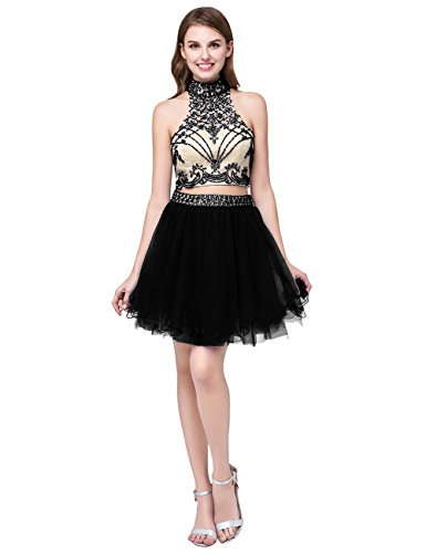 Dress Women's Black Homecoming Cdress Junior Gowns Formal Evening Prom Pieces Two Short Dresses Tulle vTFwg6dq
