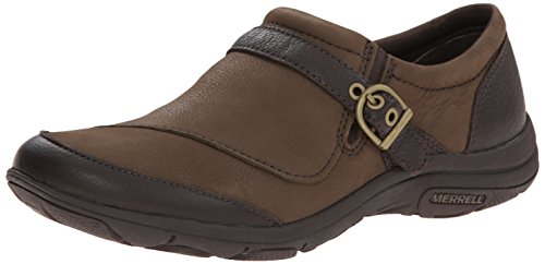 Merrell Women's Dassie Buckle Slip-On Shoe, Charocoal Brown, 7.5 M US by Merrell