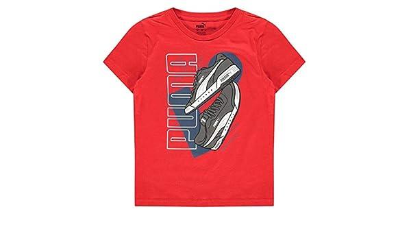 PUMA Boys Big Cat QT T Shirt Junior Short Sleeve Crew Neck