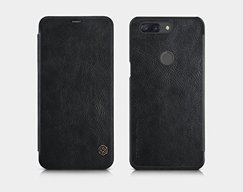 Nillkin Qin Series Royal Leather Flip Case Cover for OnePlus 5T  BLACK