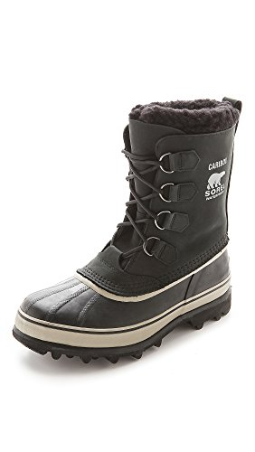Sorel Men's Caribou, Black/Tusk 08, 10.5 D-Medium