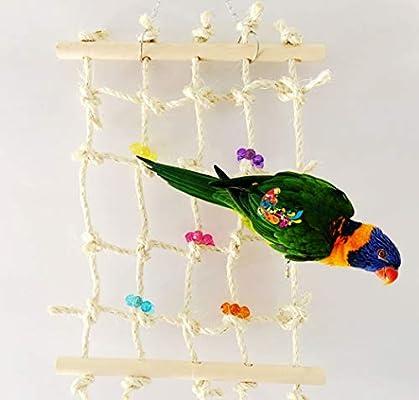 ecoolbuy acrílico cuerda Net Swing escalera juguetes para mascotas ...