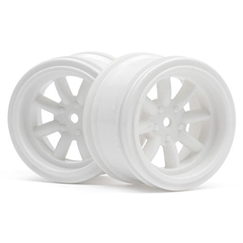 (HPI 3810 Vintage 8-Spoke Wheel 31mm White 6mm Offset (2) by HPI Racing)