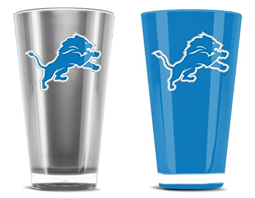 NFL Detroit Lions 20oz Insulated Acrylic Tumbler Set of 2