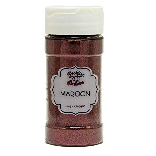 Backfist Customs Glitter Maroon red Premium Polyester Glitter Multi Purpose Dust Powder 4oz for use with tumblers Slime Arts & Crafts Wine Glass Decoration Weddings