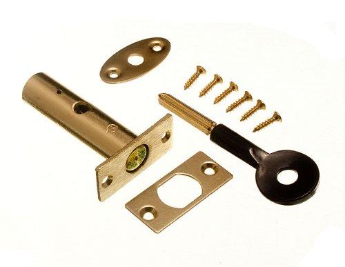 Pack Of 2 Locks And Keys Door Security Rack Bolt And Star Key 60Mm Eb + Screws