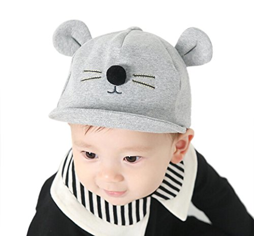 s Baby Boy Girl Bunny Rabbit Visor Baseball Cap Cotton Peaked Hat (Gray) ()