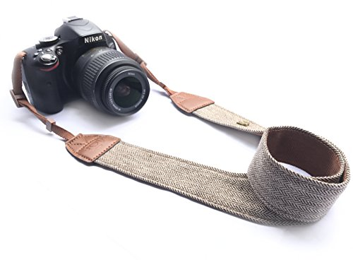 Alled XN01-0942 Neck Shoulder Belt Strap, Vintage Print Soft Colorful Camera Straps for Women/Men for All DSLR/Nikon/Canon/Sony/Olympus/Samsung/Pentax/Olympus, Brown