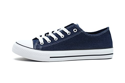 FBetter Men Sneakers Low-Top Canvas Sports Shoes (Denim EU43) Canvas Mens Sneakers