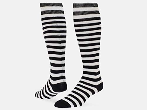 Red Lion Mini Hoop Knee-high Sock (Black/White - Large)