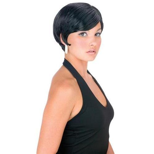 - Adult Black Pixie Girl Wig, One Size