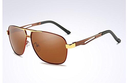 sol gafas de gris Gafas sol de negro UV400 red Sunglasses brown polarizadas TL gafas hombre Y1IgxU