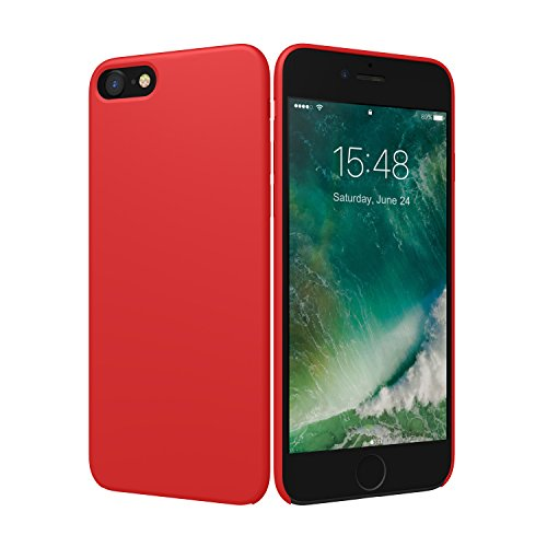 iPhone 7 Case, ALYEE Liquid Silicone Case Thin Protective Defender Shock Proof Scratch Resistant Shell Back Cover for iPhone7 4.7 inch(Red)