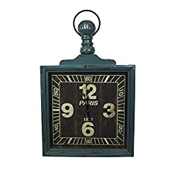 Sagebrook Home 10988 Wooden Wall Clock, Green Wood, 38 x 3.75 x 24 Inches