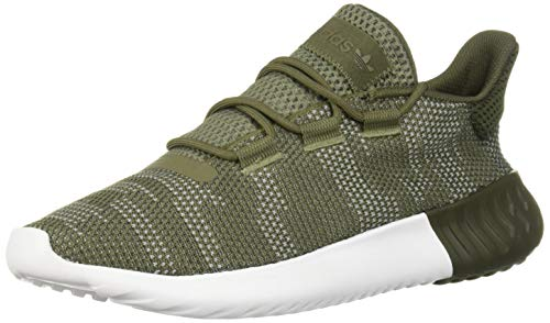 (adidas Originals Men's Tubular Dusk Running Shoe, raw Khaki/Night Cargo/White, 7 M US)