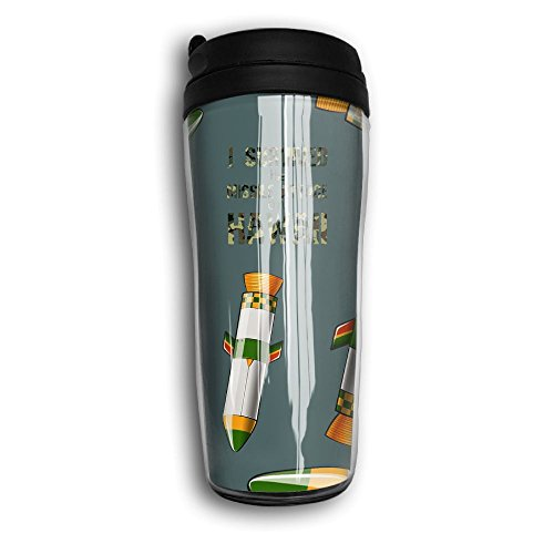 Hawaii Missile Attack Survivor 2018 Travel Curved Coffee Mugs Thermal Cup With Splash Proof Lid by Sd5l Mugs