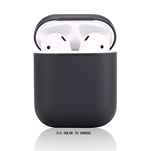 AirPods Case,Teyomi Protective Silicone Cover Skin with Sport Strap for Apple Airpods Charging Case (Black)