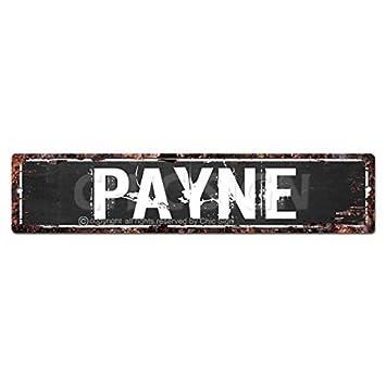 Pinkicee Payne Man Cave Letrero, Chic rústico Calle Placa ...