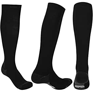 Sumee Graduated Compression Socks for Men Women (20-30 mmHg) Best Athletic Fit for Nurses, Travel, Running, Maternity Pregnancy, Varicose Veins, Medical, Blood Circulation, Leg Recovery (Grey, M)