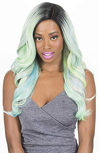 (NEW BORN FREE SYNTHETIC LACE FRONT WIG-MAGIC LACE DEEP PART MLD02)
