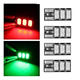 ACHICOO 4 PCS 4-6S Mini LED Light Board Red Green for RC Drone FPV Racing Frame Kit - Green Gag Gifts for Kids