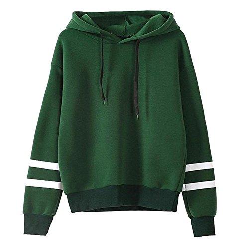 Green Black Striped Hoodie - 4