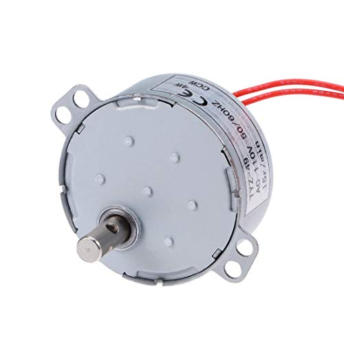 uxcell Synchronous Motor AC 110V 50/60Hz 15RPM CCW Torque 4W Turntable Gear Box for Microwave Oven