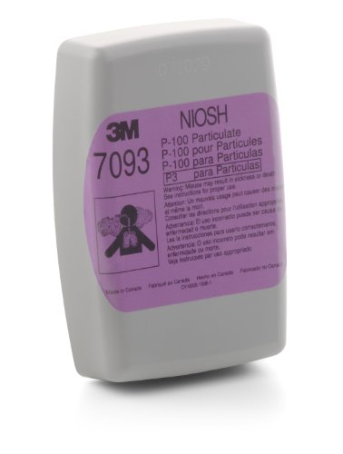 3M Particulate Filter 7093, P100 Respiratory Protection  (Pack of 12)