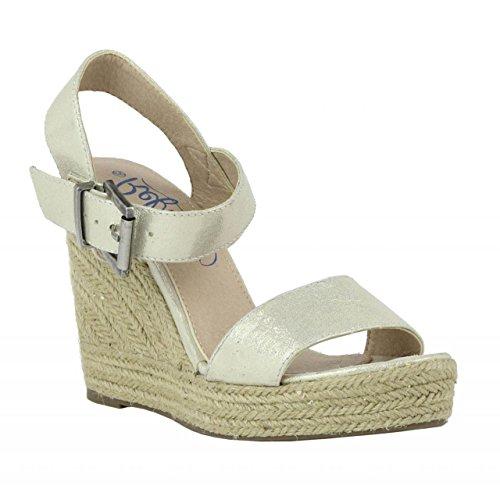 Zapatos de cuña de Mujer REFRESH 61772 METLZ ORO