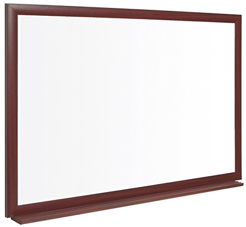 Bi-Silque CE04206518 Earth-It environmentally friendly Prime Whiteboard with Wood Effect by Bi-silque