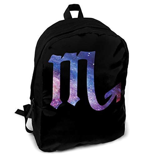Giinly Starry Sky Scorpio Full-Size Printed Custom Multipurpose School Bag Backpack Travel Daypack for Adult